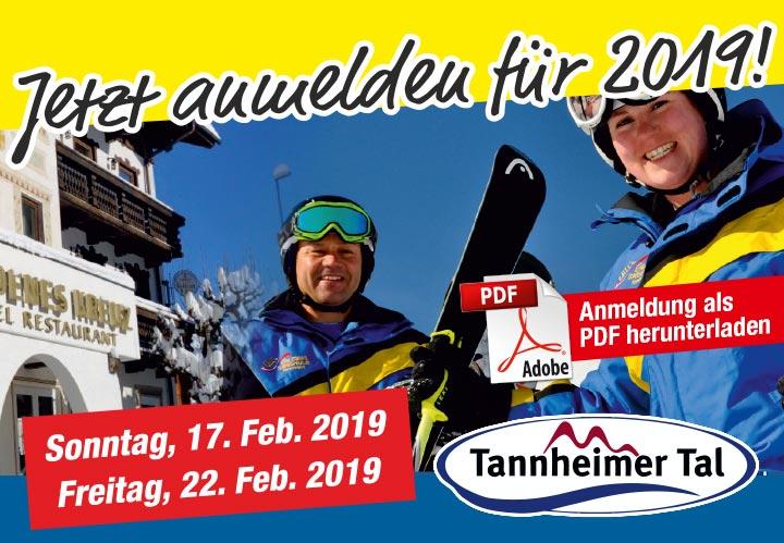 Skifreiziet im Tannheimer Tal 2019 - Jetzt anmelden